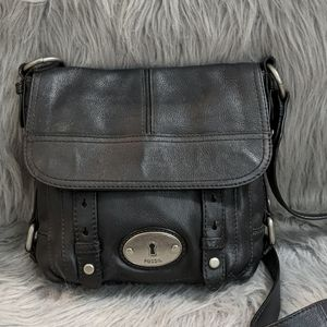 Fossil Pebbled Leather Crossbody
